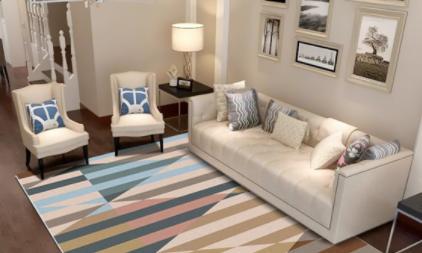 沙发茶几地毯要铺多大(茶几地毯哪种材质好)