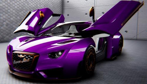 紫色的HispanoSuiza旨在让您兴高采烈
